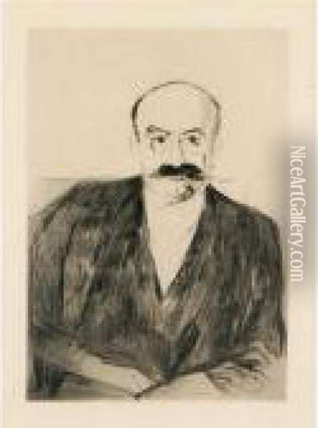 Portrait Of Dr. Max Asch Oil Painting - Edvard Munch