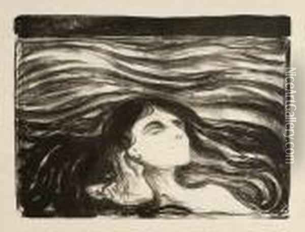 Untitled Oil Painting - Edvard Munch