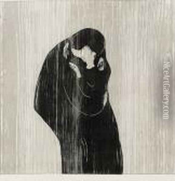 The Kiss Iv Oil Painting - Edvard Munch