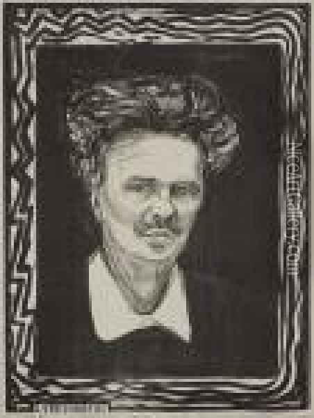 August Strindberg Oil Painting - Edvard Munch