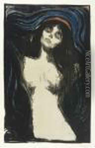 Madonna Oil Painting - Edvard Munch