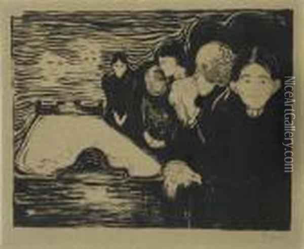 On The Waves Of Love (w. 81) Oil Painting - Edvard Munch