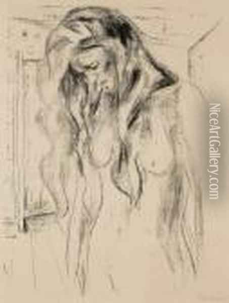 Young Woman Weeping Oil Painting - Edvard Munch