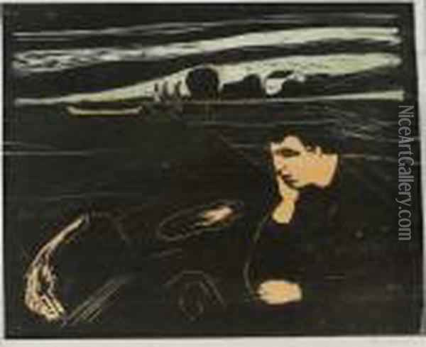 Melancholy Iii Oil Painting - Edvard Munch