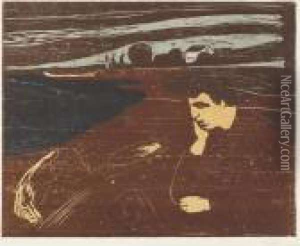 Melancholy Iii (w. 203) Oil Painting - Edvard Munch
