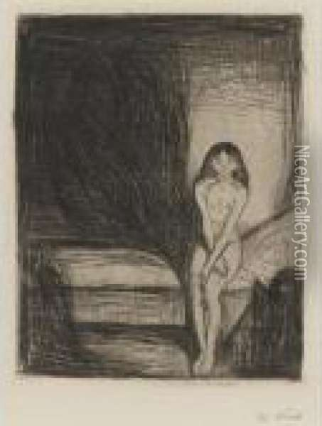Puberty (w. 186) Oil Painting - Edvard Munch