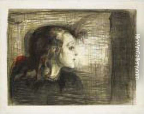 The Sick Child I (w. 72, Sch. 59) Oil Painting - Edvard Munch