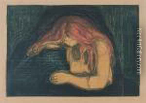 Vampyr. Ii Oil Painting - Edvard Munch