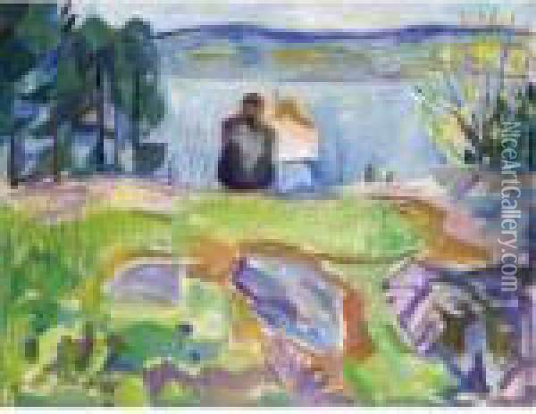 Property From A Private Swiss Collection              Springtime Oil Painting - Edvard Munch