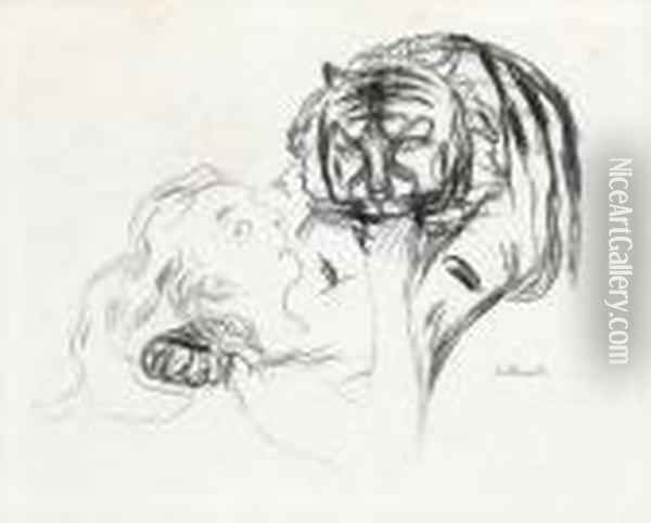 The Tiger 1908-09 Oil Painting - Edvard Munch