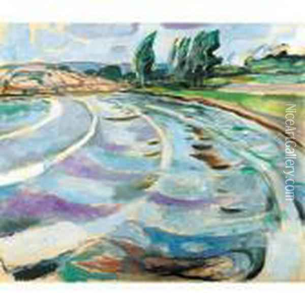 The Wave Oil Painting - Edvard Munch