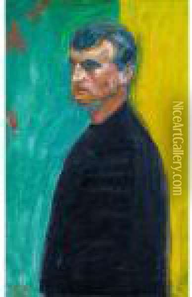 Self-portrait Oil Painting - Edvard Munch