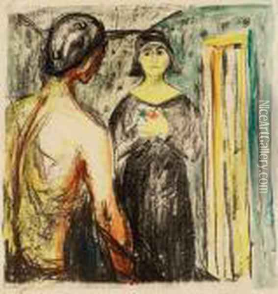 Marat Og Charlotte Corday Oil Painting - Edvard Munch