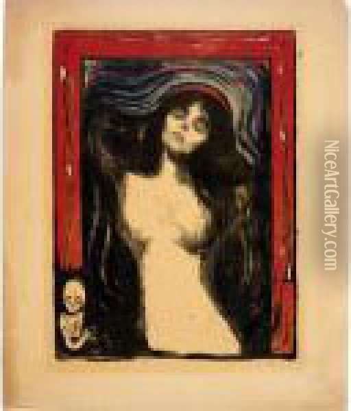 Madonna: Liebendes Weib (w. 39; S. 33) Oil Painting - Edvard Munch