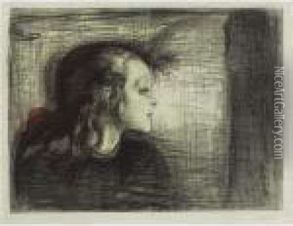 The Sick Child I (das Kranke Kind I) (woll 72) Oil Painting - Edvard Munch