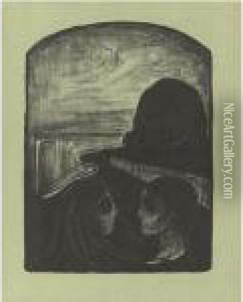 Anziehung I (woll 75) Oil Painting - Edvard Munch