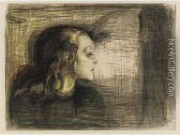 The Sick Child I (das Kranke Kind I) (w. 72; S. 59) Oil Painting - Edvard Munch