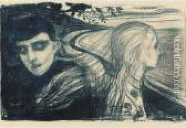 Separation Ii (loslosung) (w. 78; S. 68) Oil Painting - Edvard Munch