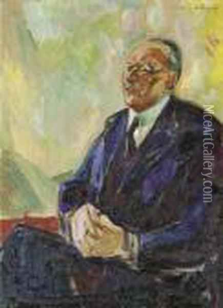Bildnis Senator Brunings Oil Painting - Edvard Munch