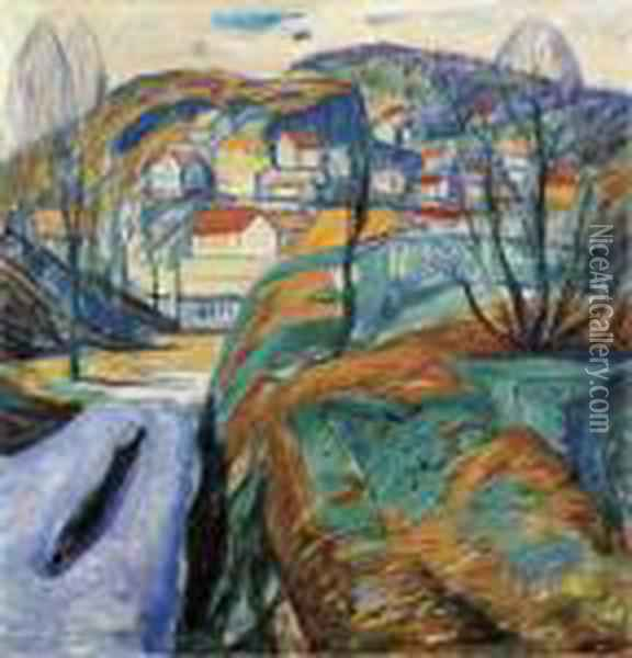 Fruhling In Kragero Oil Painting - Edvard Munch
