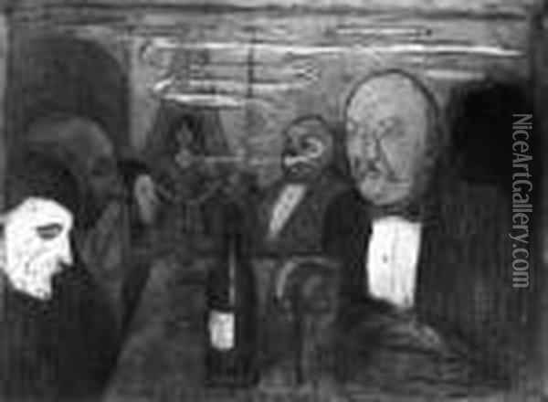 Christiania-boheme Ii Oil Painting - Edvard Munch