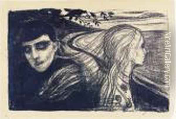 Loslosung Oil Painting - Edvard Munch
