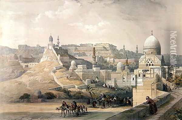 The Citadel of Cairo, from Egypt and Nubia, Vol.3 Oil Painting - David Roberts