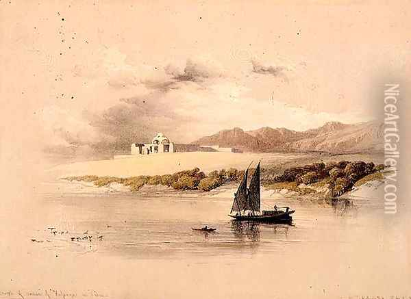 Temple of Amdda of Halsaya in Nubia, from Egypt and Nubia, Vol.1 Oil Painting - David Roberts