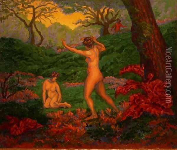 The Faun and Spring, 1895 Oil Painting - Paul-Elie Ranson