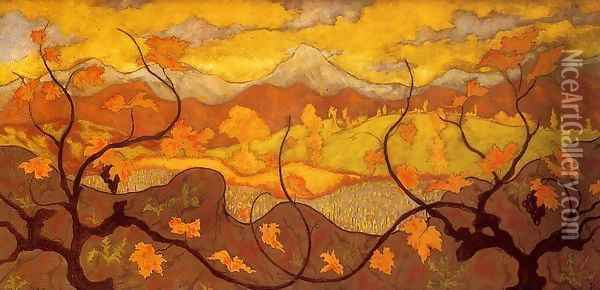 Vines Oil Painting - Paul-Elie Ranson