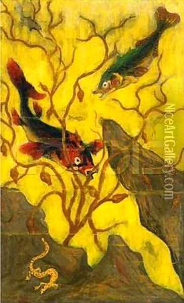 Fish and Crustaceans Oil Painting - Paul-Elie Ranson