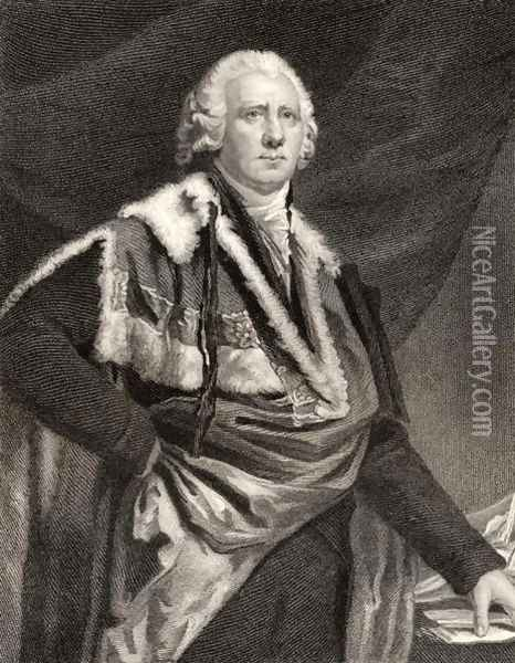 Henry Dundas, engraved by S. Freeman, from National Portrait Gallery, volume III, published c.1835 Oil Painting - Sir Henry Raeburn