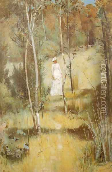 Summer Morning Tiff Oil Painting - Tom Roberts