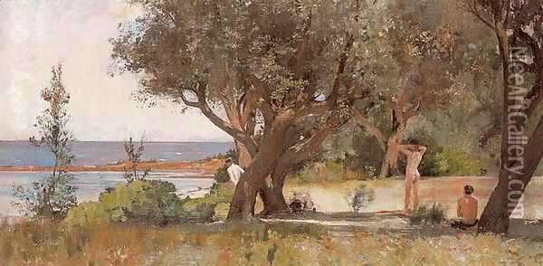 Sunny South Oil Painting - Tom Roberts