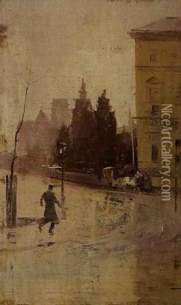 By the Treasury Oil Painting - Tom Roberts