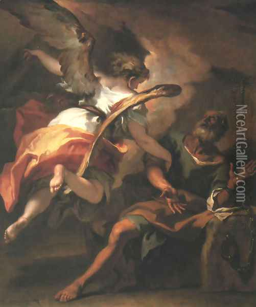 The Liberation of St. Peter 1722 Oil Painting - Sebastiano Ricci