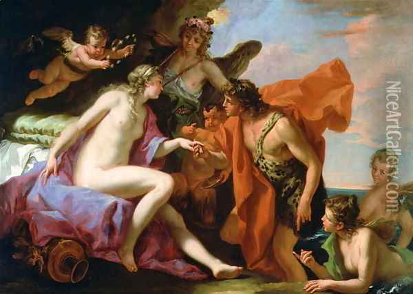 Bacchus and Ariadne Oil Painting - Sebastiano Ricci