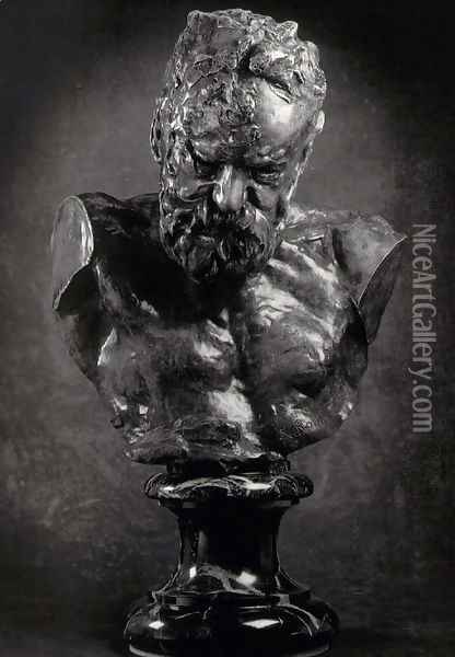 Bust of Victor Hugo Oil Painting - Auguste Rodin
