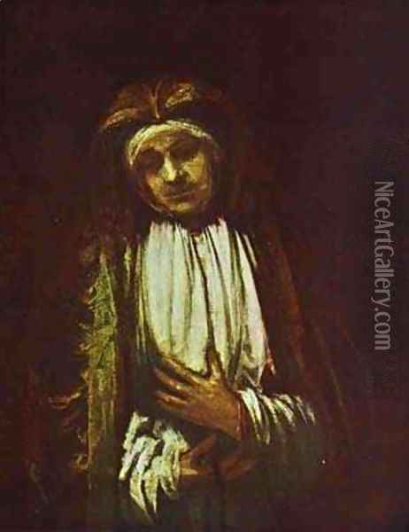 Portrait Of An Old Woman 1661 Oil Painting - Harmenszoon van Rijn Rembrandt