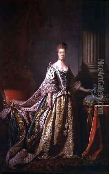 Queen Charlotte 2 Oil Painting - Allan Ramsay