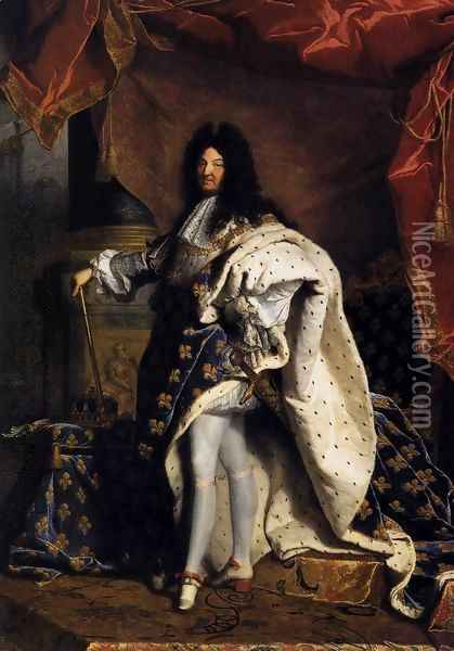 Portrait of Louis XIV 1701 Oil Painting - Hyacinthe Rigaud