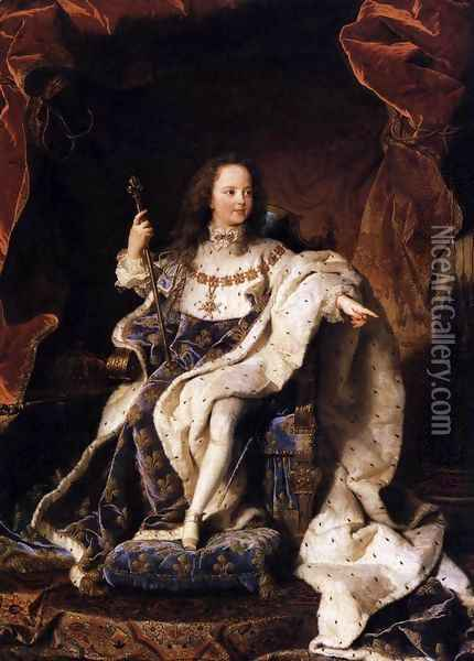 State Portrait of Louis XV 1715 Oil Painting - Hyacinthe Rigaud