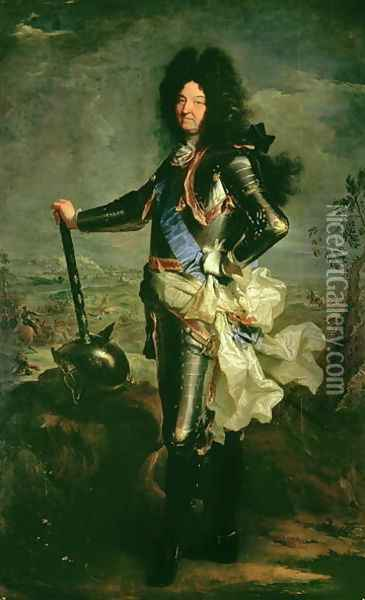 Portrait of Louis XIV 1638-1715 Oil Painting - Hyacinthe Rigaud