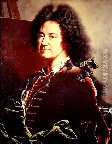 Self Portrait Oil Painting - Hyacinthe Rigaud