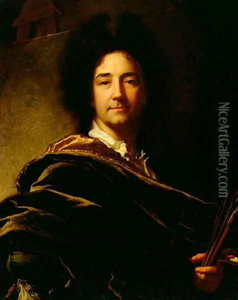Self Portrait, 1716 Oil Painting - Hyacinthe Rigaud