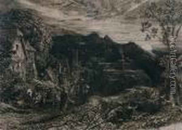 The Bellman Oil Painting - Samuel Palmer
