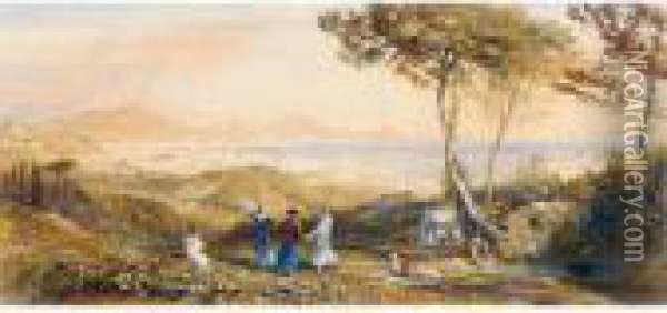 The Bay Of Naples Oil Painting - Samuel Palmer