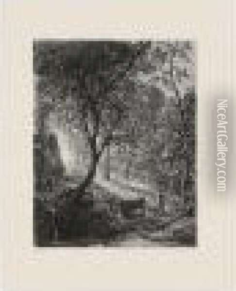 The Herdsman's Cottage; The Vine; And The Sleeping Shepherd (a.3; 5; And 6) Oil Painting - Samuel Palmer