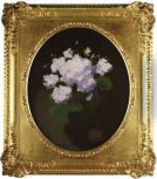 A Still Life Of Rhododendron Oil Painting - James Stuart Park