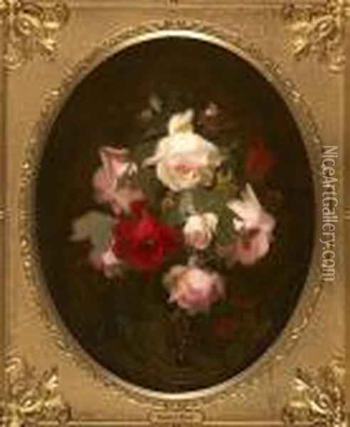 Pink And Red Roses Oil Painting - James Stuart Park